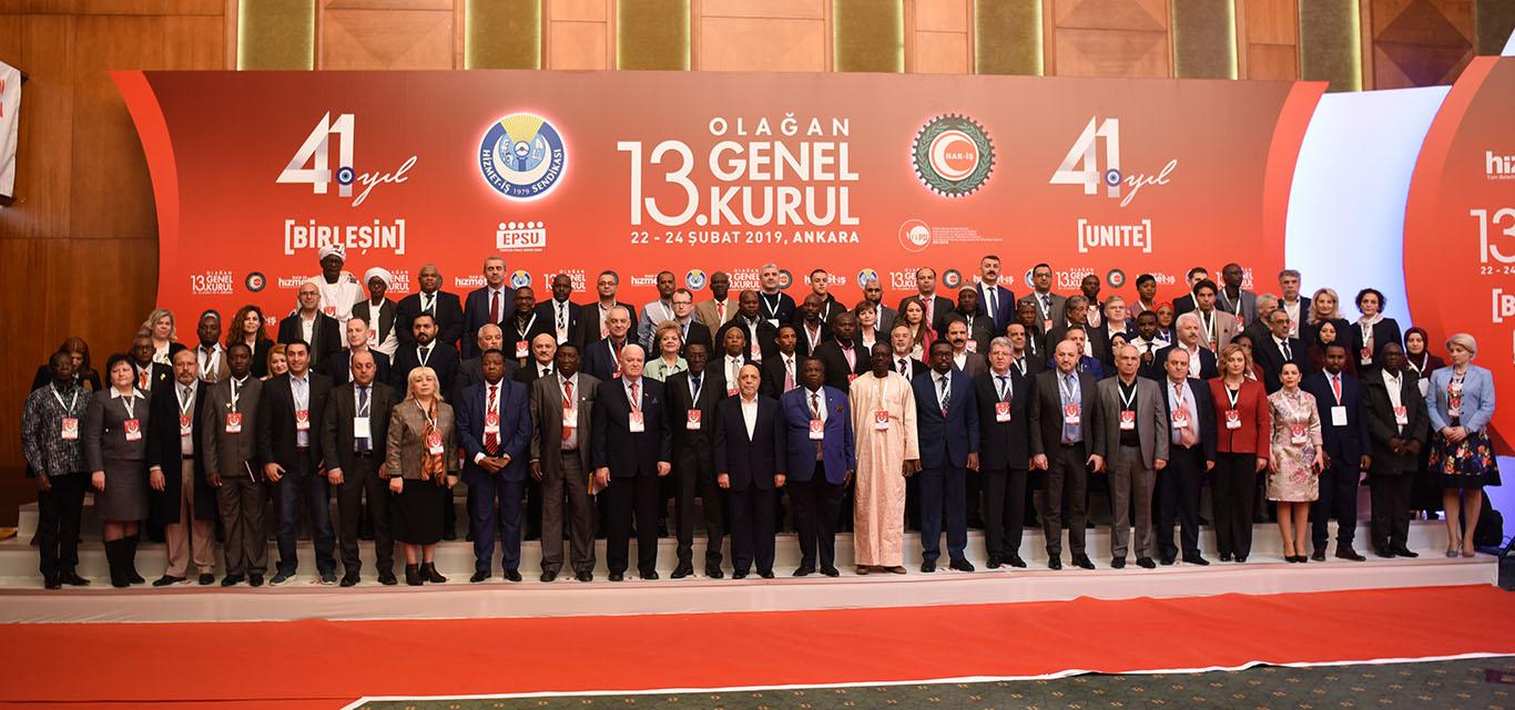 """Participarea reprezentanților Federației SINDASP la al 13-lea Congres ordinar al Sindicatului """"Hizmet-Iș"""" din Turcia"""