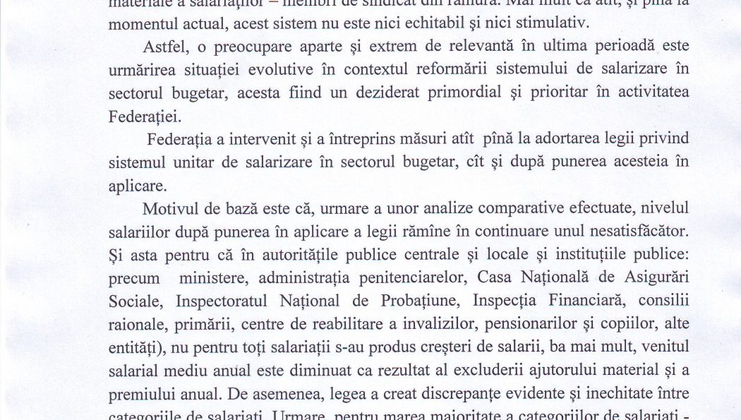 """INFORMAȚIE cu privire la activitatea Federației SINDASP pe dimensiunea """"protecția socială a membrilor de sindicat"""""""