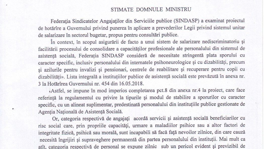Angajații din instituțiile publice de asistență socială în atenția Federației SINDASP