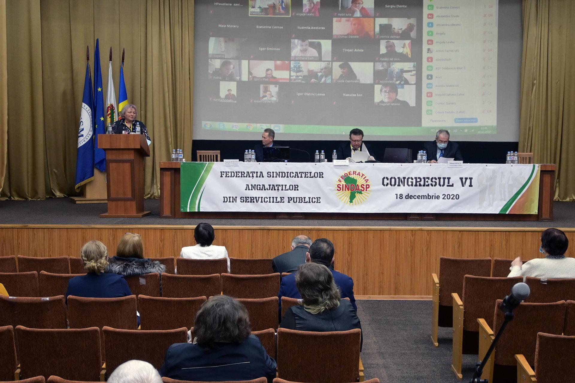 Congresul VI al Federației Sindicatelor Angajaților din Serviciile Publice (SINDASP)