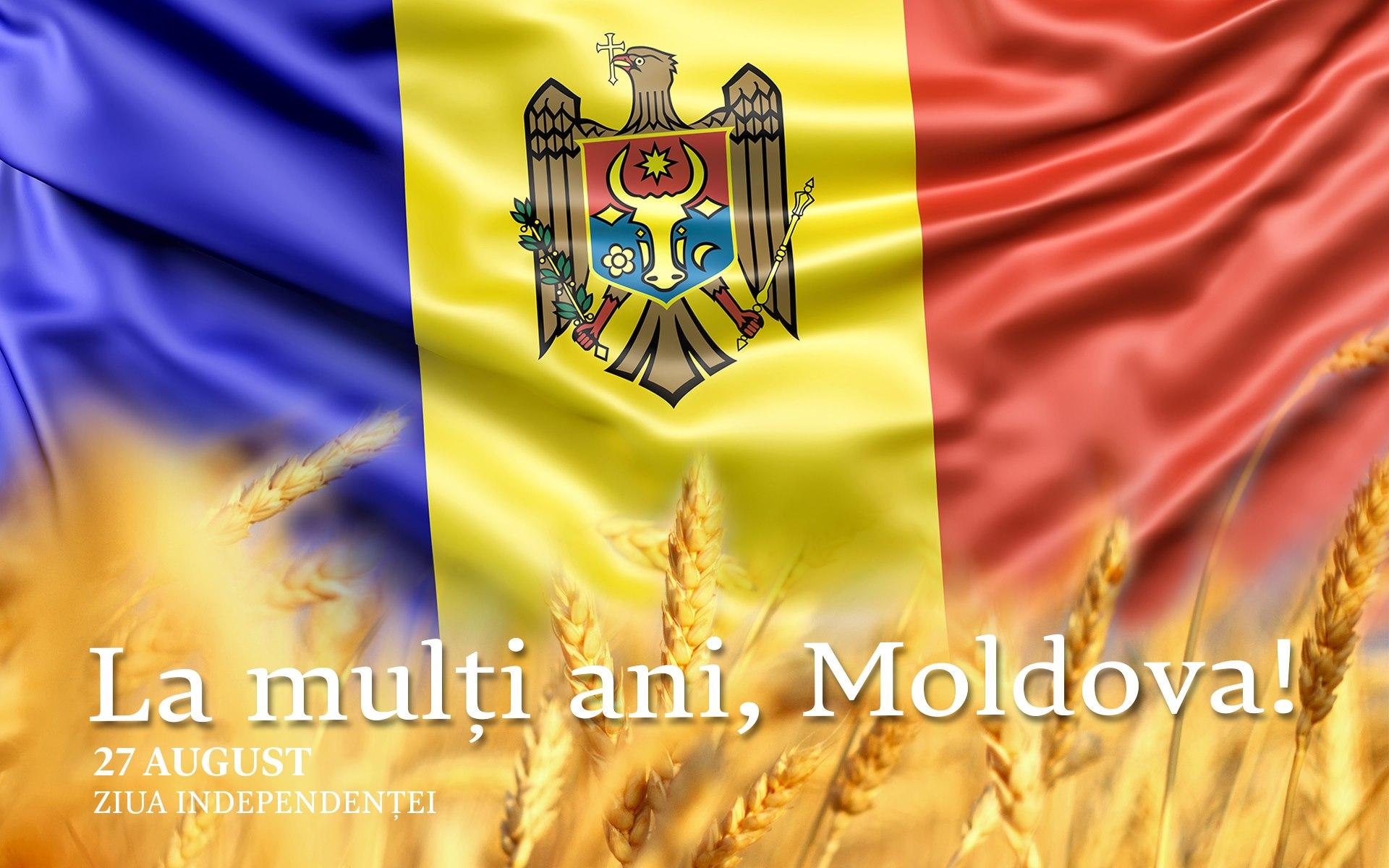 Mesaj de felicitare cu prilejul sărbătorii naționale – Ziua Independenței Republicii Moldova